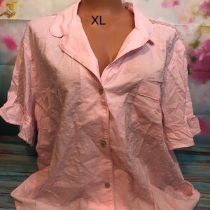 Cotton candy pink button up pajama top Victoria's